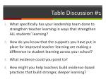 table discussion 1