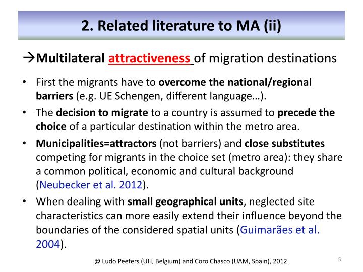 2. Related literature to MA (ii)