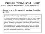 imperialism primary source b speech