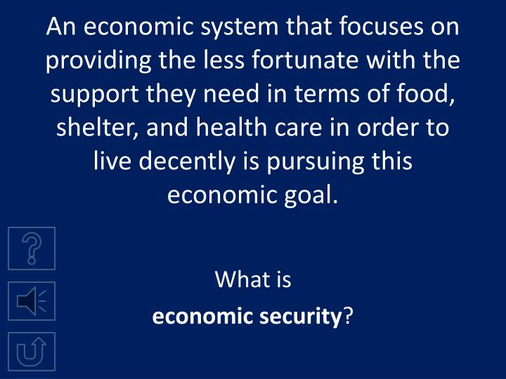system of economic security of the