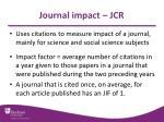 journal impact jcr