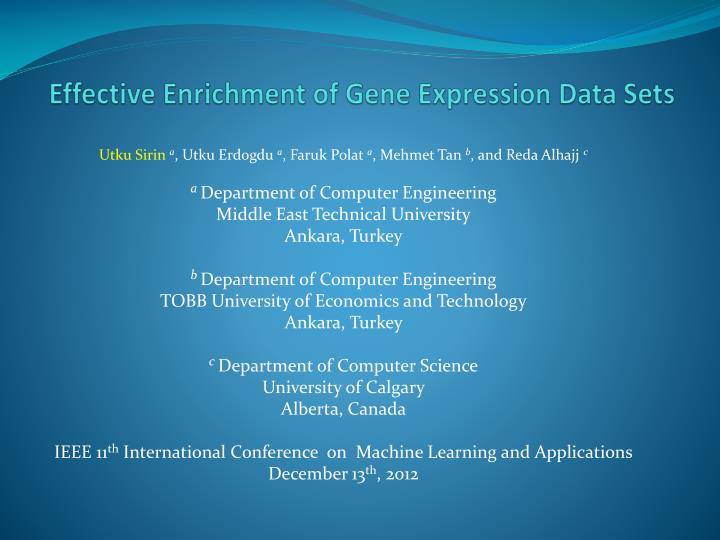 effective enrichment of gene expression data sets n.