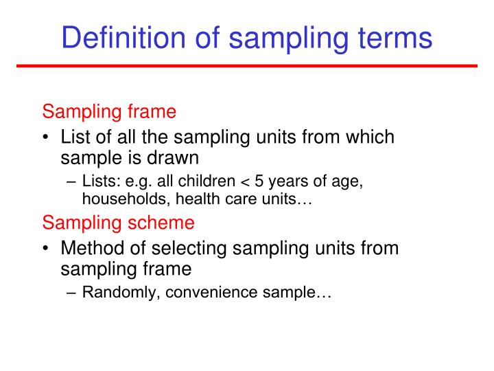 PPT - Sampling PowerPoint Presentation - ID:1875105