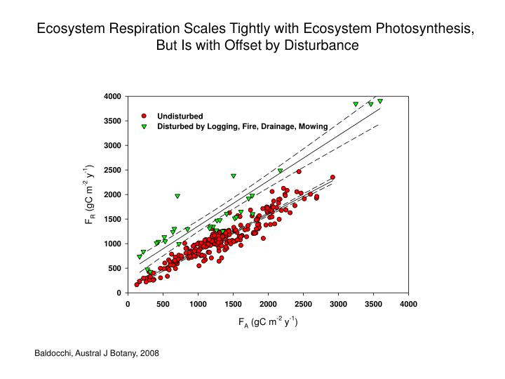Ecosystem Respiration Scales Tightly with Ecosystem Photosynthesis,