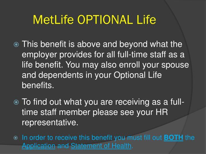 MetLife OPTIONAL Life