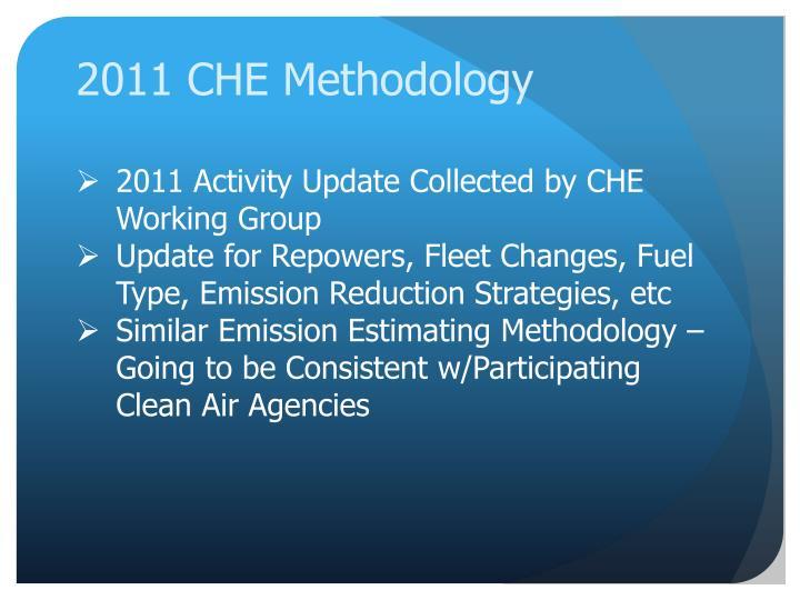2011 CHE Methodology