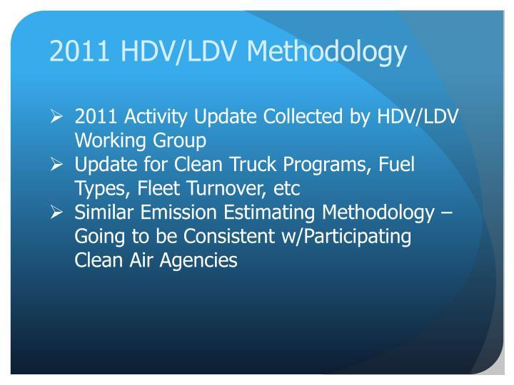 2011 HDV/LDV Methodology