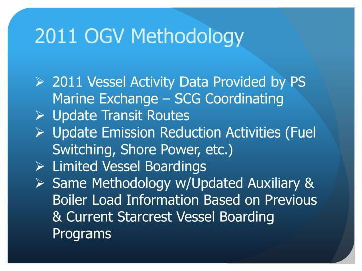 2011 OGV Methodology