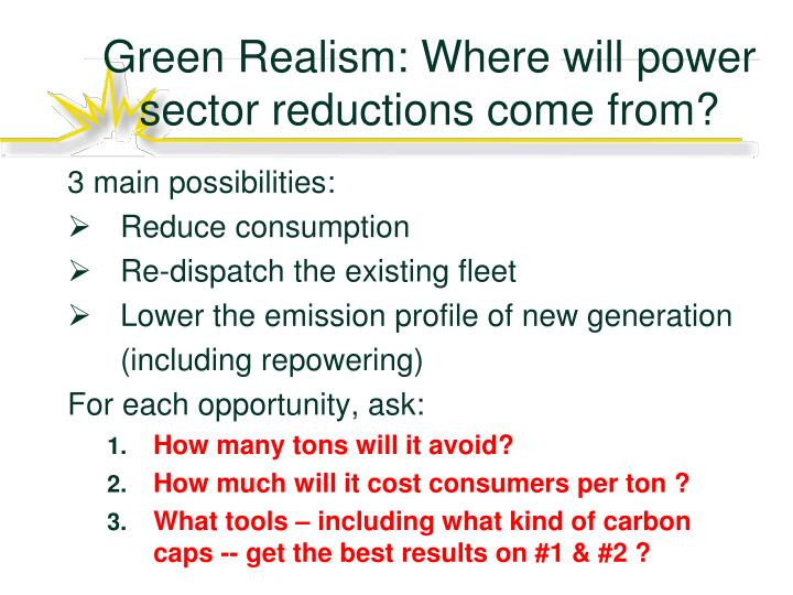 Green Realism: Where will power sector reductions come from?