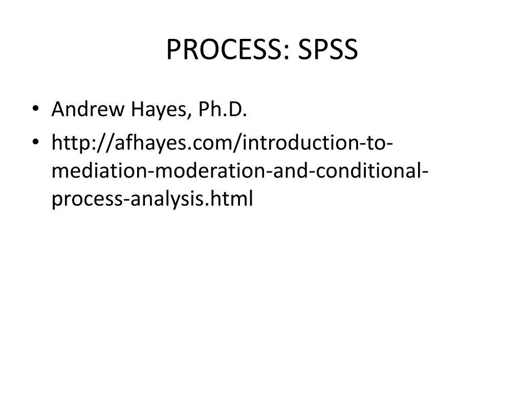 Process Spss