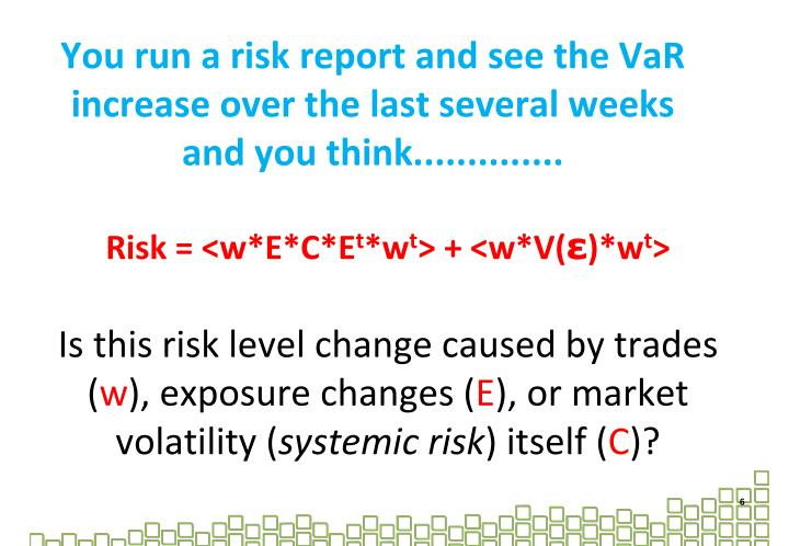 You run a risk report and see the