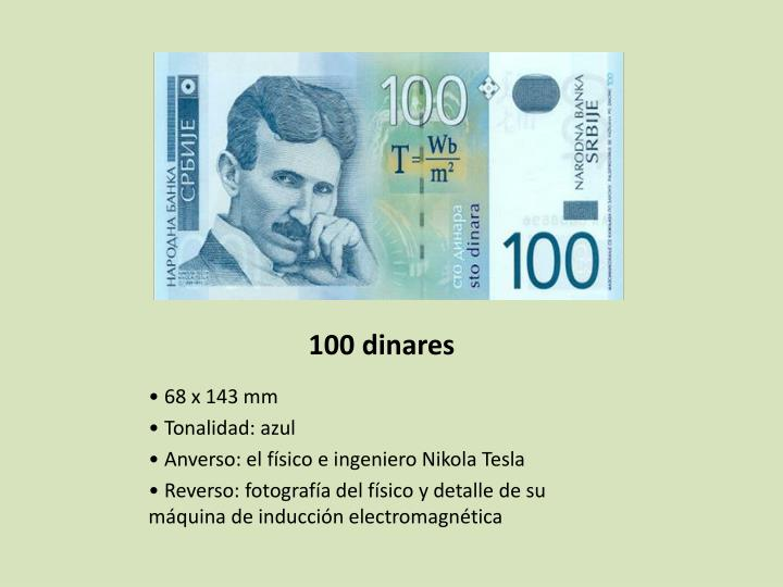 100 dinares