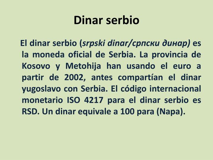 Dinar serbio1