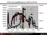 sns cavity qualification in cmtf at jlab