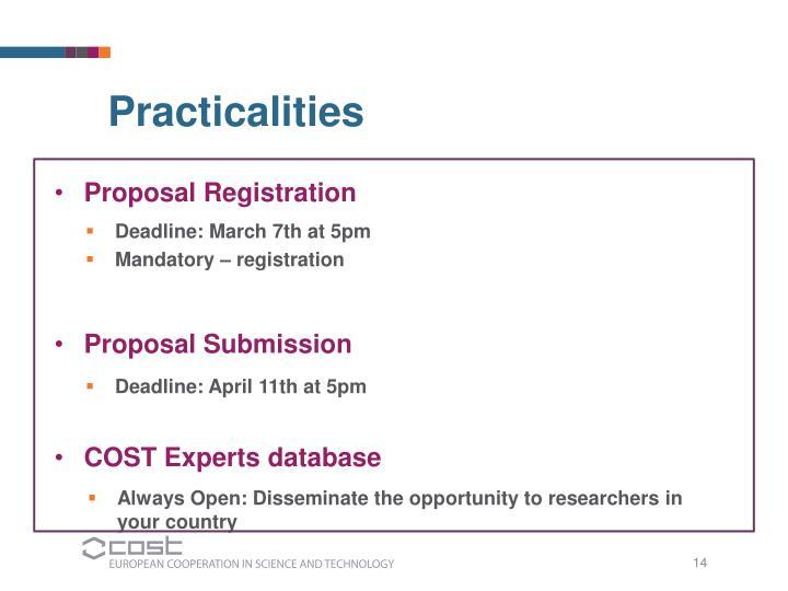 Proposal Registration