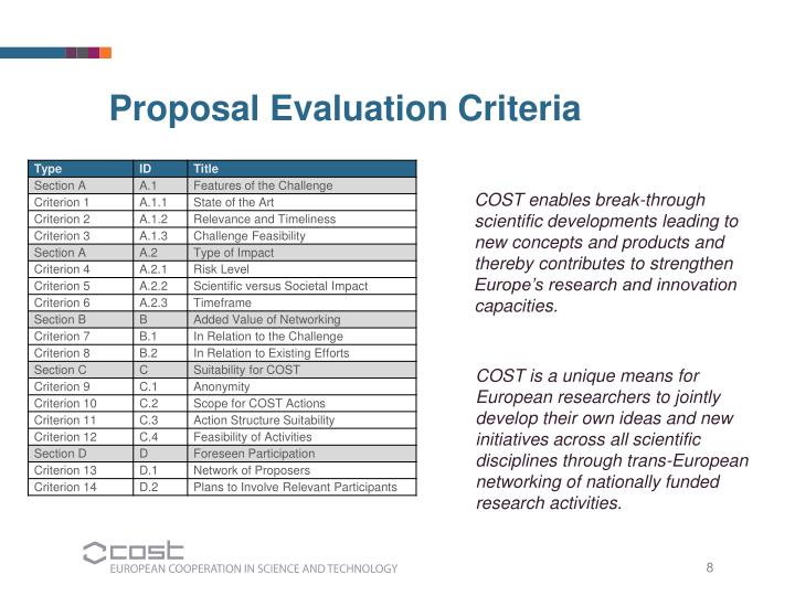 COST enables break-through scientific developments leading to new concepts and products and thereby contributes to strengthen Europe's research and innovation capacities.