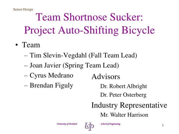 Team shortnose sucker project auto shifting bicycle