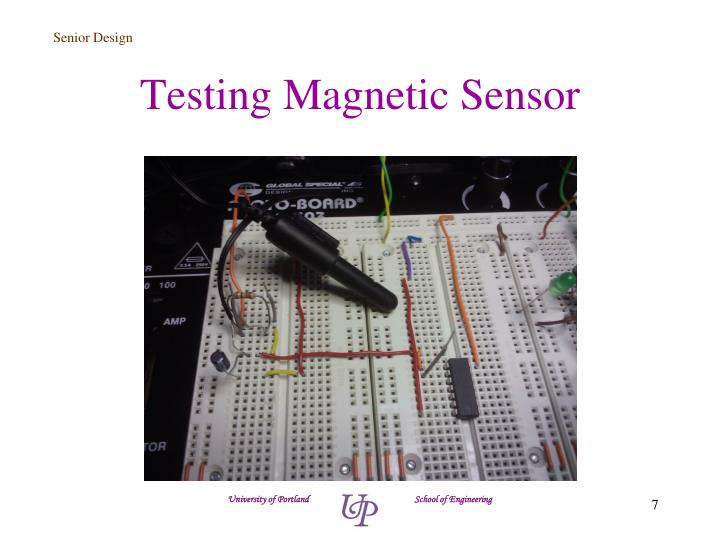 Testing Magnetic Sensor