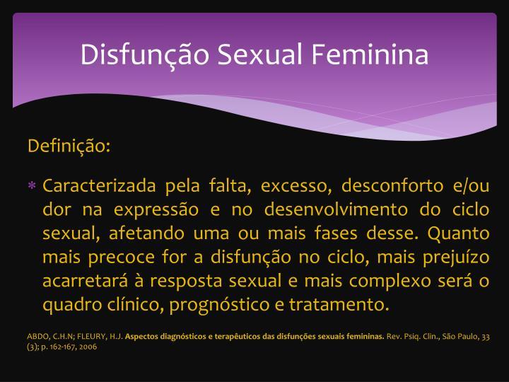 Disfun o sexual f eminina