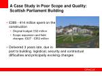 a case study in poor scope and quality scottish parliament building