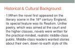 historical cultural background