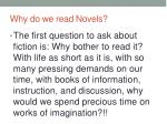 why do we read novels