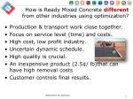 how is ready mixed concrete different from other industries using optimization1
