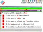 order status in tracking