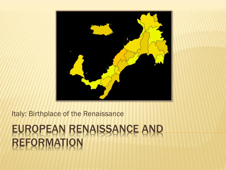 italy birthplace of the renaissance n.