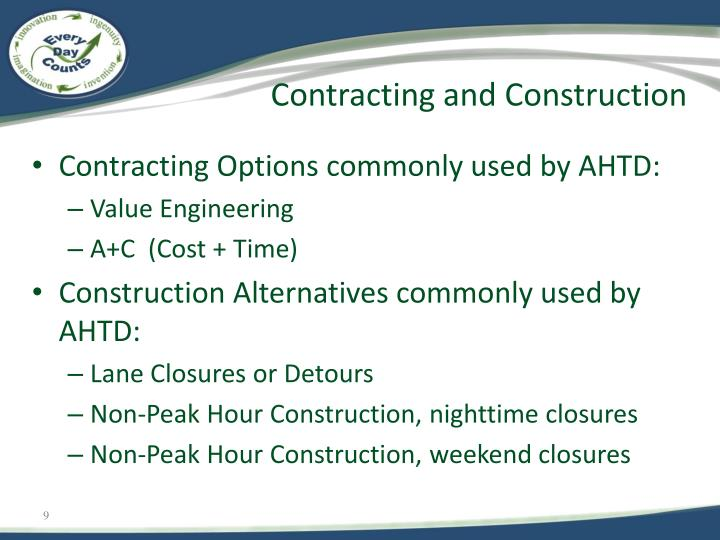 Contracting and Construction