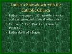 luther s showdown with the catholic church