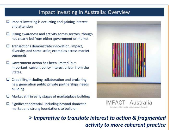 Impact Investing in Australia: