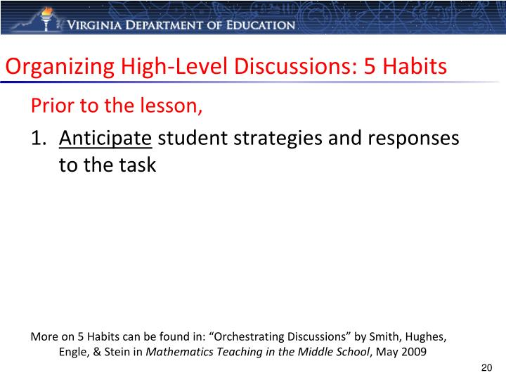 Organizing High-Level Discussions: 5 Habits