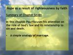 hope as a result of righteousness by faith1