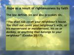 hope as a result of righteousness by faith107