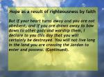 hope as a result of righteousness by faith122