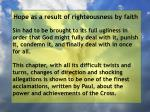 hope as a result of righteousness by faith133
