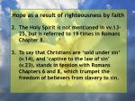 hope as a result of righteousness by faith149
