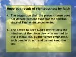 hope as a result of righteousness by faith151