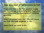 hope as a result of righteousness by faith159
