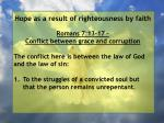 hope as a result of righteousness by faith167