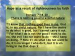 hope as a result of righteousness by faith195