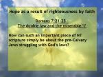 hope as a result of righteousness by faith203