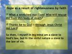 hope as a result of righteousness by faith216