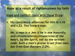 hope as a result of righteousness by faith220