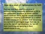 hope as a result of righteousness by faith236
