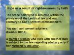 hope as a result of righteousness by faith24