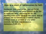 hope as a result of righteousness by faith36