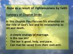 hope as a result of righteousness by faith4