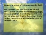 hope as a result of righteousness by faith48